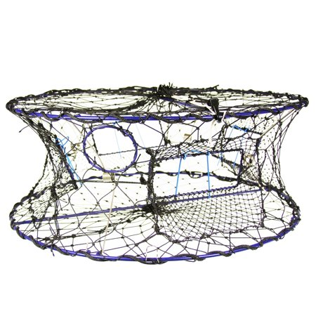 Collapsible Crab Pot With Drawstring Closure