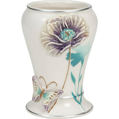 Creative Bath Garden Gate Ceramic Tumbler Lilac, 1.0 CT