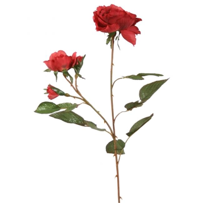 Distinctive Designs DJ-829-CZRD DIY Flower Cherry Red Nun Rose - Pack of 12