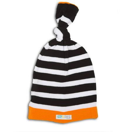 Izzy & Owie - Orange Raccoon Striped Baby Hat 0-24 Months](Raccoon Hat)