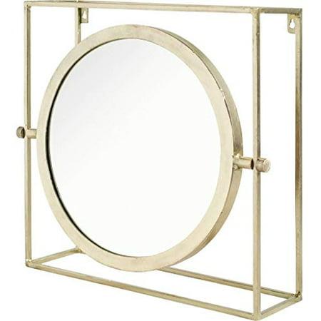 Mercana Furniture & Decor Metal Hamilton by Mercana Wall Mirror, Oversize, Gold
