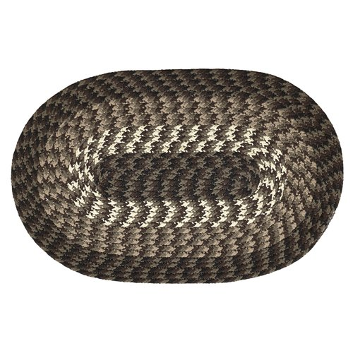 "ALPINE 20"" x 30"" BRAIDED RUG - CHOCOLATE"