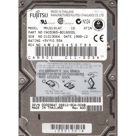 MHJ2181AT, PN CA05365-B01600DL, Fujitsu 18GB IDE 2.5 Hard Drive