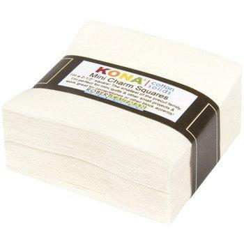 Robert Kaufman Kona Cotton Snow Mini Charms 84 Squares 2.5 Inches