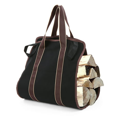 Firewood Log Carrier Bag Canvas Wood Tote Firewood Holder for Fireplaces Camping Wood Stoves Beaches ()