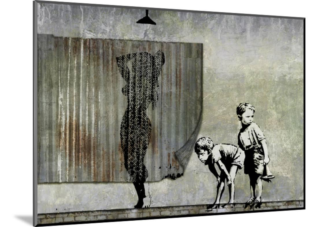 Shower Peepers Giclee Print By Banksy