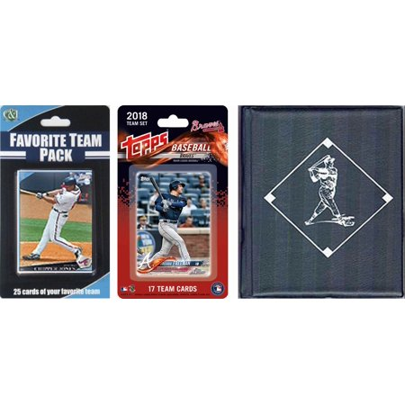 MLB Atlanta Braves Licensed 2018 Topps® Team Set and Favorite Player Trading Cards Plus Storage (Most Popular Baseball Players Of All Time)
