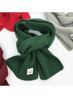 Fashion Smile Children Knitted Scarf Winter Keep Warm Girls Boys Scarves GN