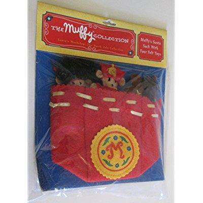 muffy vanderbear - the muffy collection santa's workshop {the north pole collection} - muffy's santa sack with four felt toys (1994)