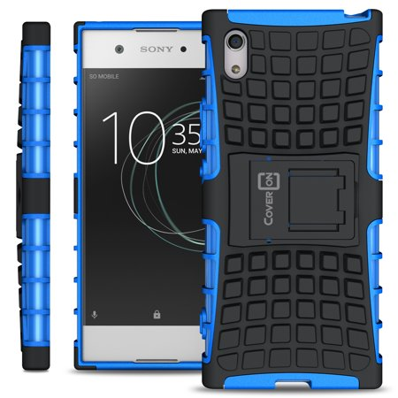 CoverON Sony Xperia XA1 Case, Atomic Series Slim Protective Kickstand Phone Cover ()