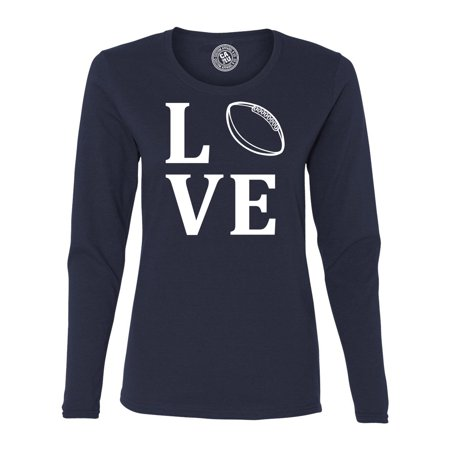 Love Football Sports Jersey Womens Long Sleeve T Shirt