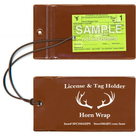 Storesmart deer and animal tag holders with elastic cord for Fishing license md walmart