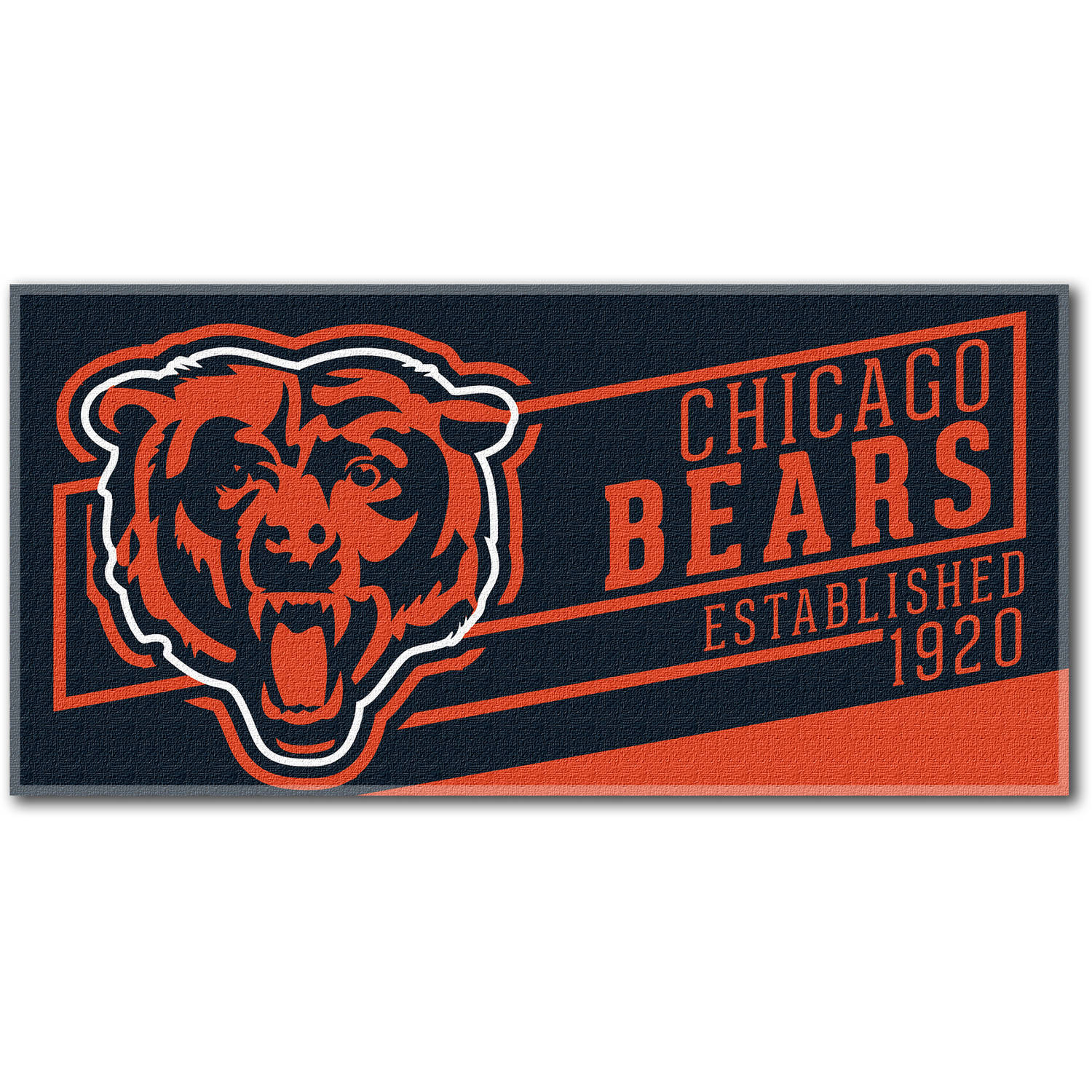 "NFL ""Cut Out"" 30"" x 60"" Beach Towel, Chicago Bears"