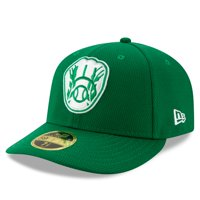 Milwaukee Brewers New Era 2021 St. Patrick's Day On Field Low Profile 59FIFTY Fitted Hat - Kelly Green