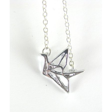 Origami Crane Necklace Inspired by Prison Break (Origami Crane Directions)