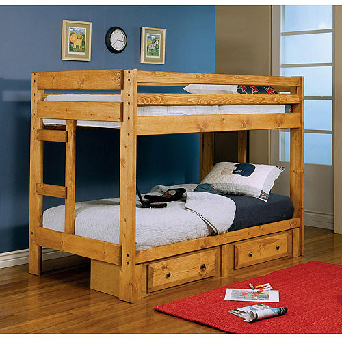 Coaster Wrangle Hill Twin-Over Twin Bunk Bed, Amber