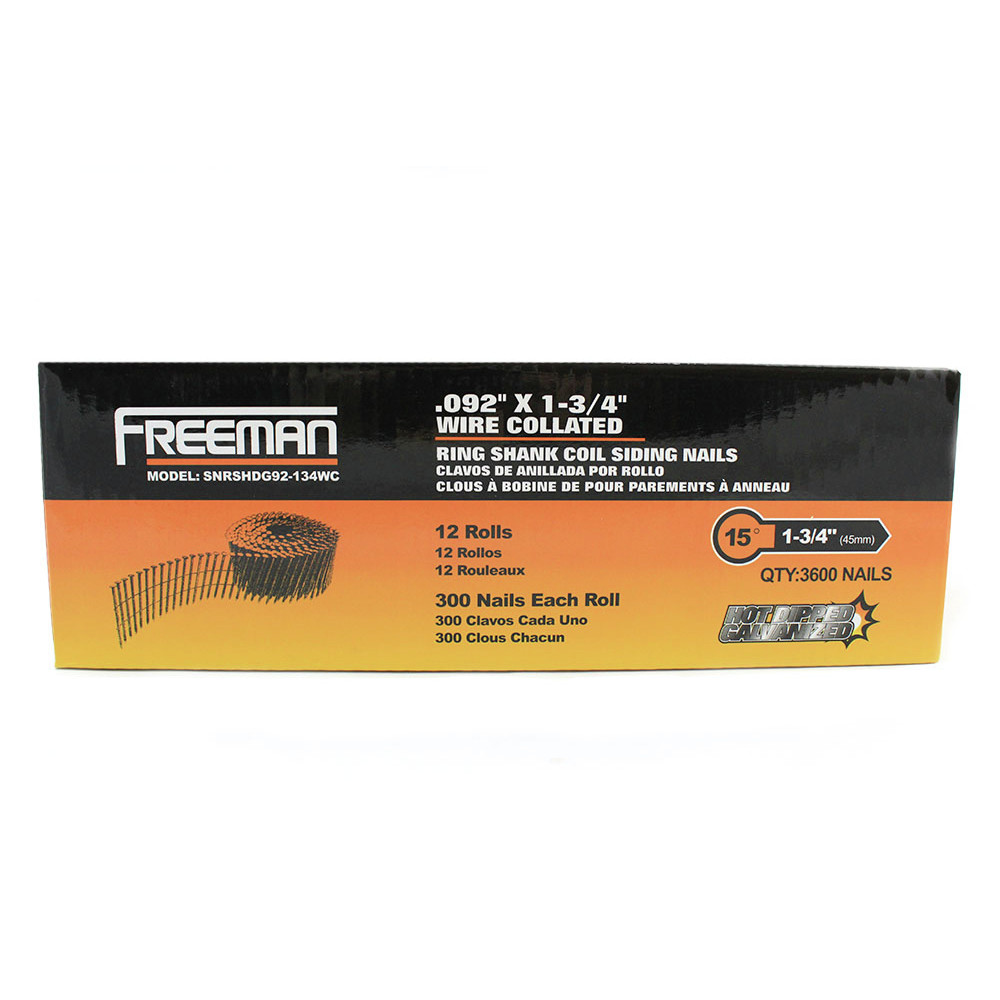 Freeman SNRSHDG92-134WC Freeman 1-3/4 in. Wire Collated Siding Nails