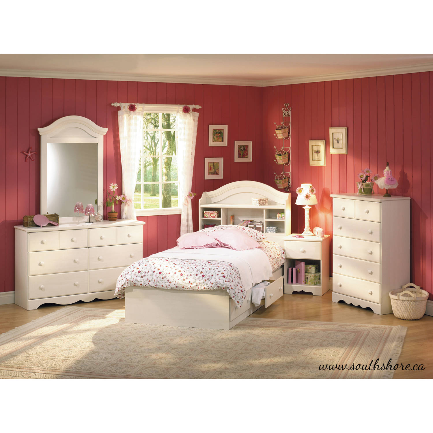 Bedroom furniture for girls rooms -  Ideas Grandiose Double Ikea Bed Loft South Shore Summer Breeze Twin Bookcase Headboard 39 Multiple