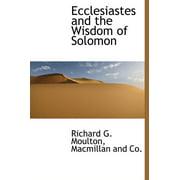 Ecclesiastes and the Wisdom of Solomon
