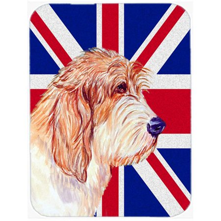 Carolines Treasures LH9496MP 7.75 x 9.25 In. Petit Basset Griffon Vendeen Pbgv With English Union Jack British Flag Mouse Pad, Hot Pad Or Trivet - image 1 de 1