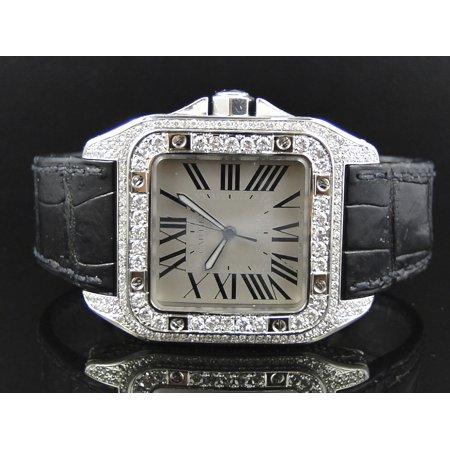 f04c26514a5 Cartier - Cartier Cartier Santos 100 Custom Diamond Watch (9.0ct ...