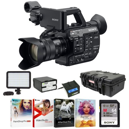 Metal Compact Camcorders - Sony 4K XDCAM Super 35mm Compact Camcorder with 18 -105mm Zoom Lens Bundle