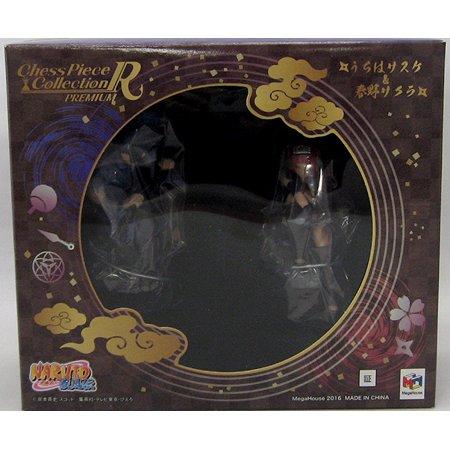 Naruto Shippuden 3 Inch Static Figure Chess Piece Series - Sasuke & Sakura Set (Shelf Wear Packaging) - image 1 de 2