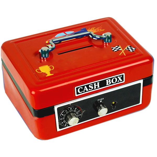 Personalized Race Cars Cash Box
