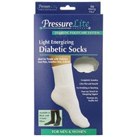 Activa Pressure Lite Light Energizing Diabetic Calf Socks White Small