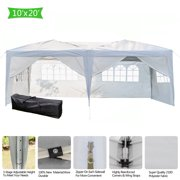 SEGMART 10' x 20' Canopy Tents for Sports & Outside, Third Generation Heavy Duty Gazebo Canopy Outdoor Party Wedding Tent, Easy Set-Up Sun Shade Folding Protable for Parties, White, S10144
