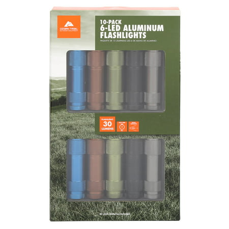 Ozark Trail Aluminum Flashlight 10-Pack - Bulk Mini Flashlights