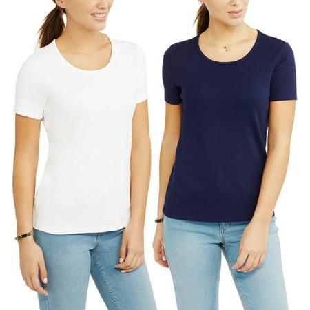 13c5f458e500b White Stag - Women s Essential Short Sleeve Scoopneck T-Shirt