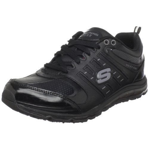 Skechers for Work Women's Air-Revvolution Sneaker,Black,1...