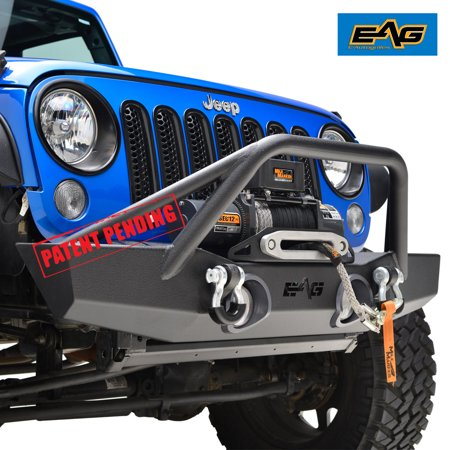 Jeep Wrangler Fog Lights >> Eag 07 18 Jeep Wrangler Jk Front Bumper With Oe Fog Light Housing