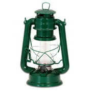 Northpoint Vintage Style Dark Green Hurricane Lantern with 12 LED's and 150 Lumen Light Output and Dimmer switch, Battery Operated Hanging Lantern for Indoors and Outdoor Usage