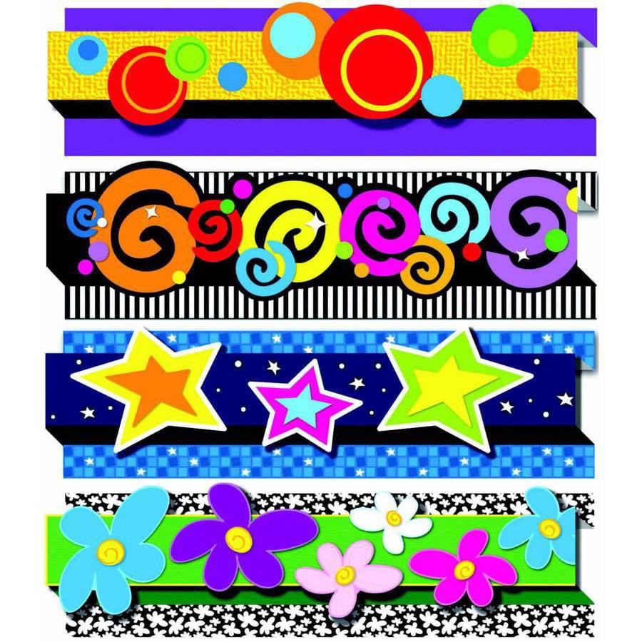 """Carson-Dellosa Pop it Decorative Border, 36"""" x 3"""", Grades PreK to 8"""