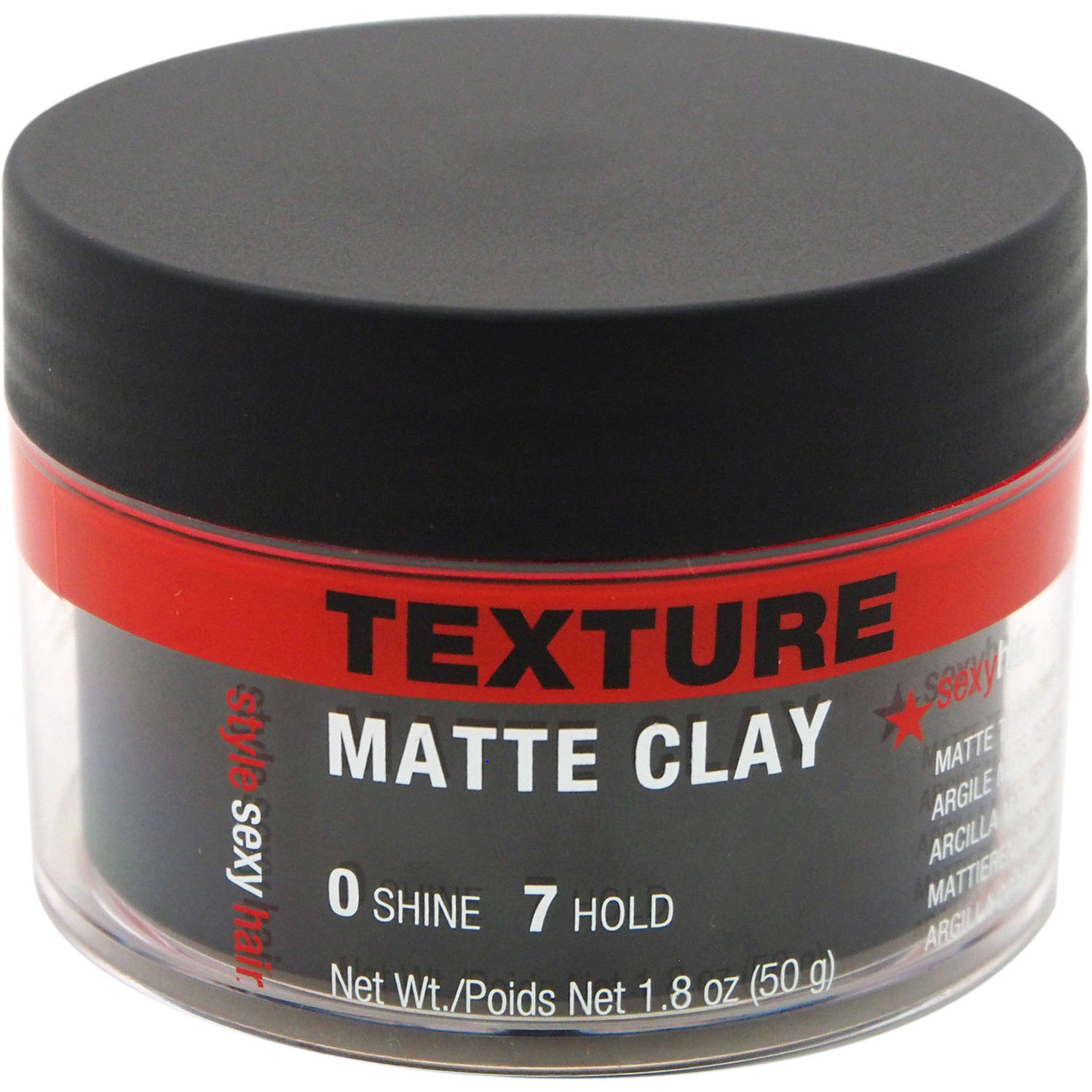 Style Sexy Hair Matte Clay Texturizing Clay by Sexy Hair for Men, 1.8 oz