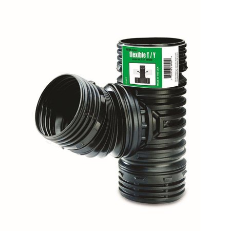 T / Y Corrugated Coupler, Connects to 3-Inch and 4-Inch