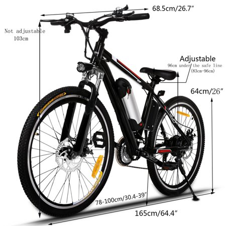 Electric Bike Mountain Bike E-Bike 25 inch Wheel Aluminum Alloy ...