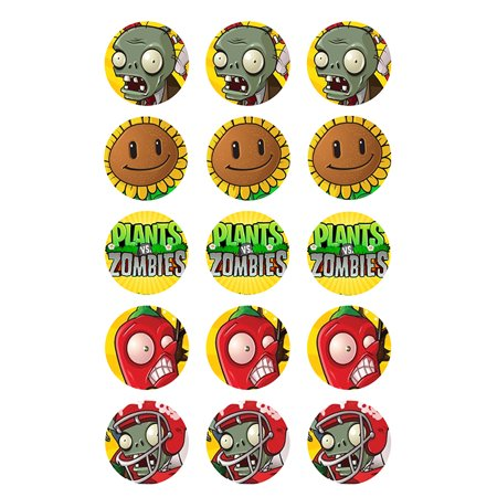 Plants vs. Zombies Edible Cupcake Images 12ct (Zombie Cupcake)