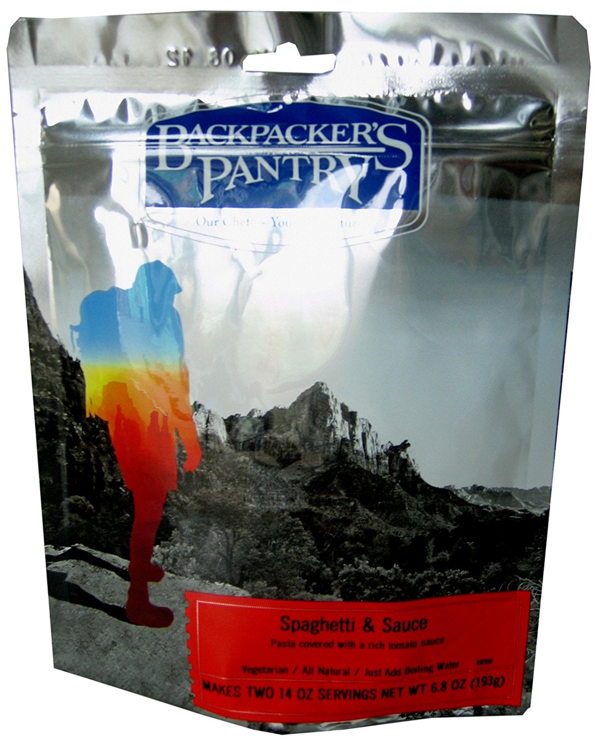 Spaghetti & Sauce, Makes two 14oz Servings..., By Backpacker's Pantry Ship from US by