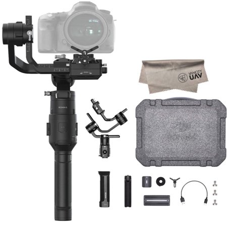 2019 DJI Ronin-S Essentials Kit 3-Axis Gimbal Stabilizer for Mirrorless and DSLR Cameras, Tripod, Gimbal Hook and Loop Strap, 1 Year Limited Warranty,