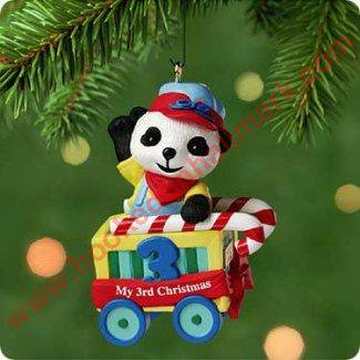 Hallmark Childs Third Christmas Ornament - Hallmark Ornament 2001 Childs Third Christmas