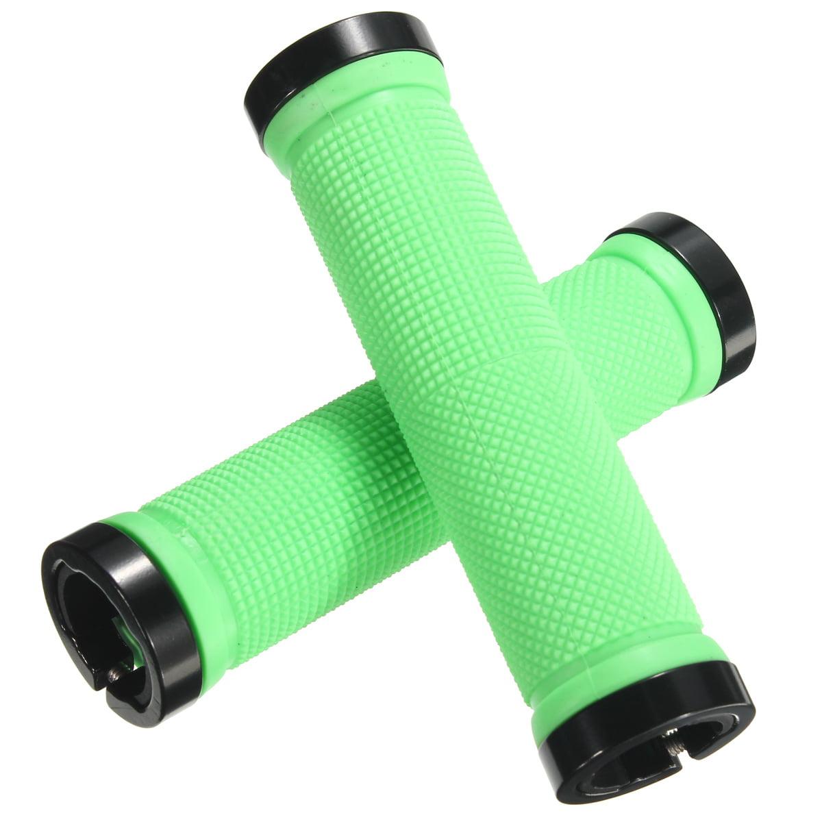 Rubber + Aluminnum Alloy Lock-on Nonslip Bike Bicycle MTB Cycling Handle Bar Set Grip 10 Colors