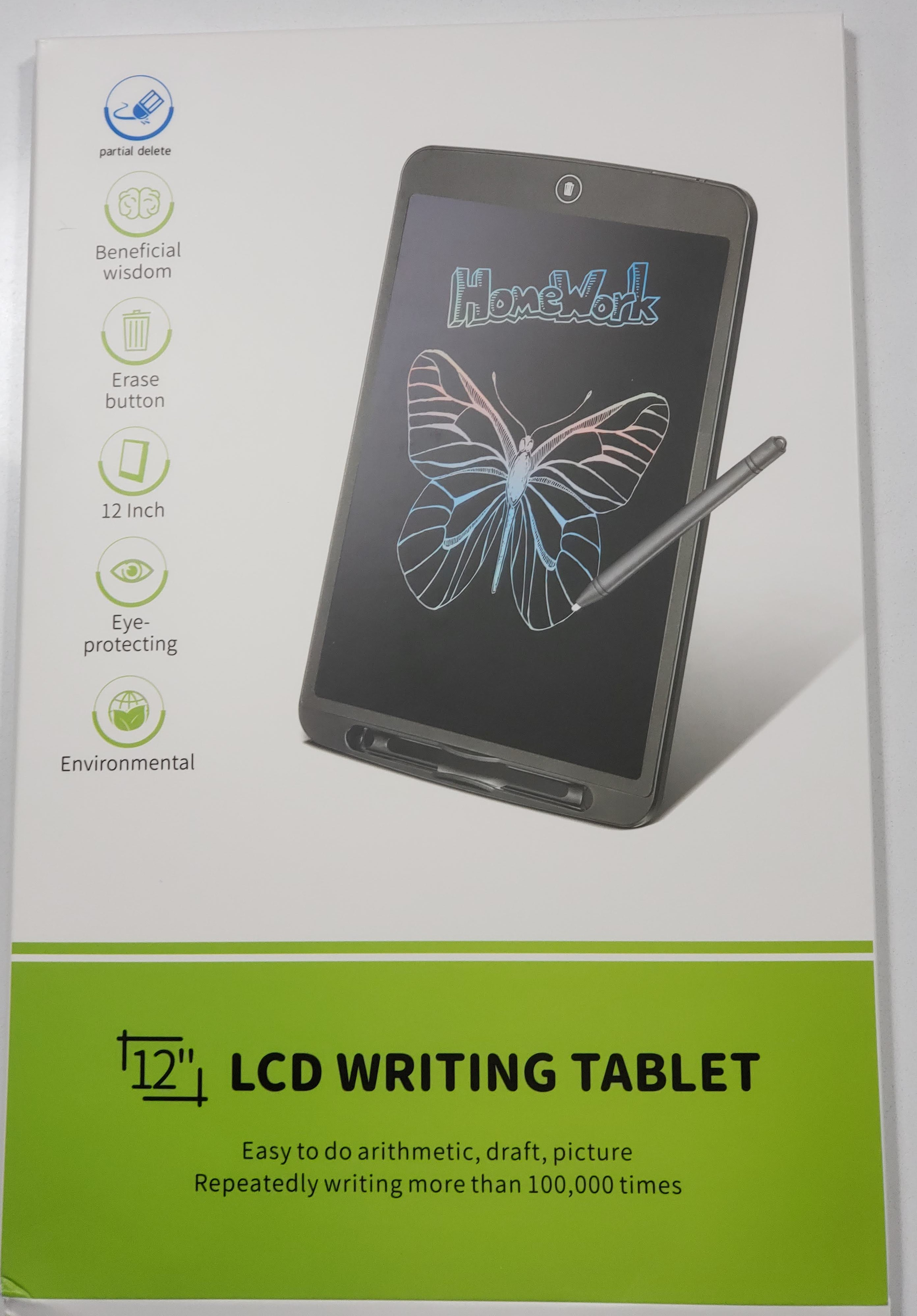 gazechimp 12 Inch LCD Handwriting Tablet Digital Pad Drawing Tablet with Touch Pen
