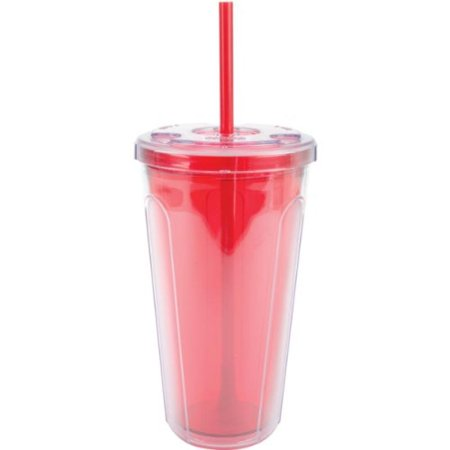 Copco Double-Wall Cold Tumbler with Straw, 24-Ounce, Blue