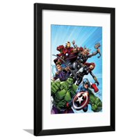Avengers Assemble No.1 Cover: Captain America, Hulk, Black Widow, Hawkeye, Thor, and Iron Man Framed Print Wall Art By Mark Bagley