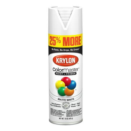 Krylon® ColorMaster Paint + Primer Matte White, 15-Oz ()