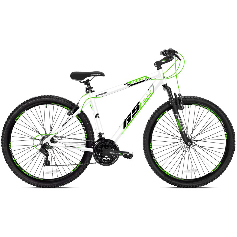 "29"" Men's Genesis GS29 Mountain Bike, White/Green"