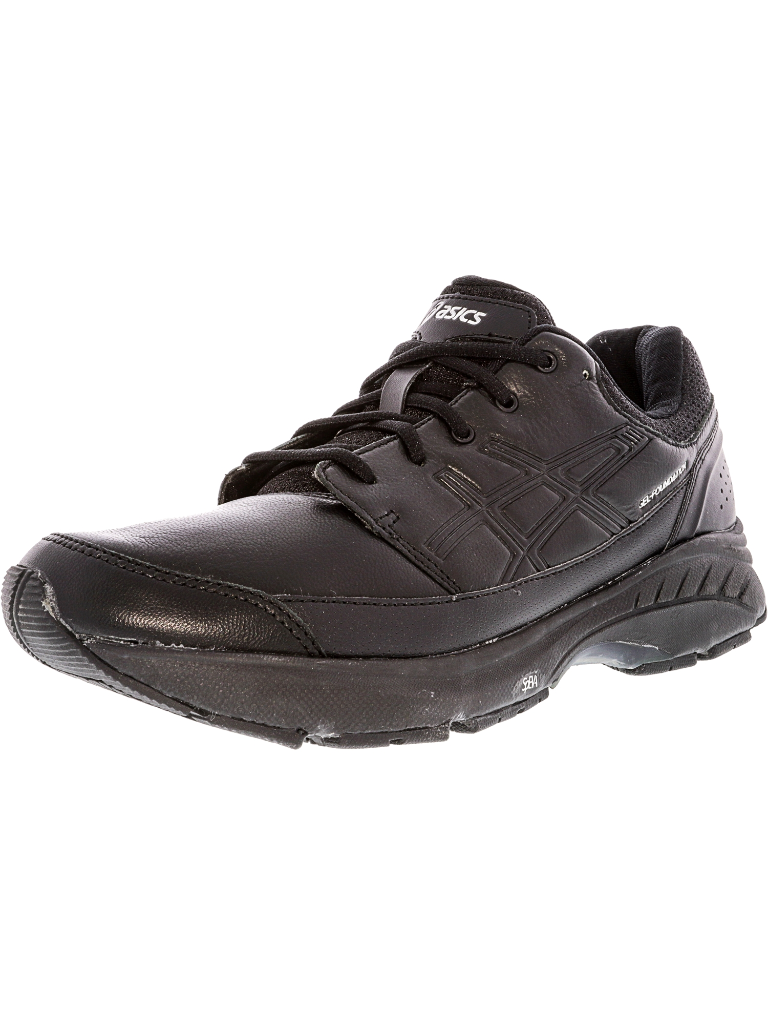 ASICS Asics Women's Gel Foundation Workplace Black Onyx Silver Ankle High Cross Trainer Shoe 6.5WW